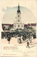 Budapest XXII. Budafok, Promontor; Katolikus templom, tömeg. Ifj. Simon József