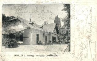Budapest II. Lipótmező Schüller J. hárshegyi vendéglője (r)