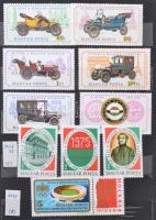 Magyar gyűjtemény az 1970-es évekből + 1919-1958 Portó sorok több példányban 8 lapos közepes berakóban