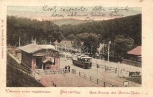 Budapest II. Hűvösvölgy, Villamos vasút végállomás, Divald Károly 414. sz.