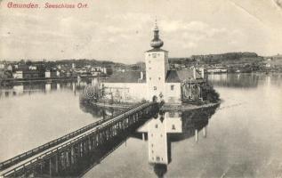 Gmunden, Seeschloss Ort, Verlag F. E. Brandt / Lake castle (EB)