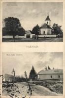 Farnad, Farná; Református és Római katolikus templom / churches (ázott sarok / wet corner)