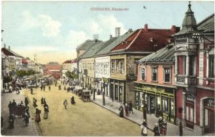 Gyöngyös, Hanisz tér, piac (EB)