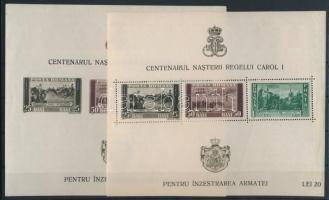 1939 I. Károly király 100 éves blokksor Mi 3-8 (Mi EUR 50,-) (sérülések / damaged)