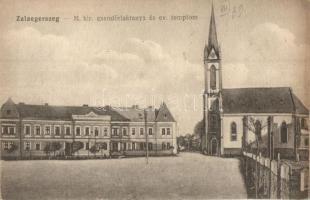 Zalaegerszeg, Csendőrlaktanya és evangélikus templom