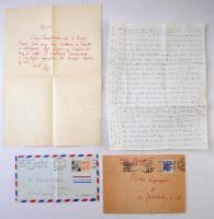 Radnóti Miklósné (1912-2014) és Vértes O. Aguszta történész, író levélváltása. Egy-egy saját kézzel írt levél 1966-ból