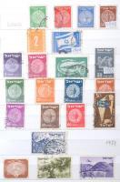 Izrael összeállítás kb. 150 db tab nélküli bélyeg + néhány palesztin 10 lapos közepes berakóban