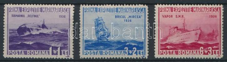 1936 Tengerészeti kiállítás sor Mi 519-521 (Mi EUR 40,-) (519 falcos / hinged)
