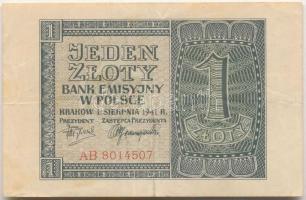 Lengyelország / Német megszállás 1941. 1Zł T:III Poland / German Occupation 1941. 1 Złoty C:F Krause 91