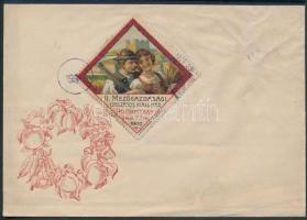 1902 II. Mezőgazdasági kiállítás Pozsony levélzáró borítékra ragasztva