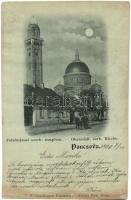 1899 Pancsova, Pancevo; Felsővárosi szerb templom. Wittigschlager kiadása / Serbian church