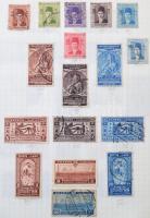 Egyiptom pecsételt gyűjtemény néhány száz bélyeg + néhány belga-kongó bélyeg A5-ös papírlapokon rögzítve gyűrűs borítóval