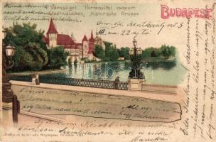 Budapest XIV. Városliget, Történelmi csoport. litho