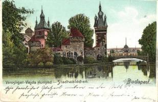 Budapest XIV. Városliget, Vajdahunyad. litho (fl)