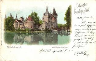 1899 Budapest XIV. Történelmi csarnok. L. Schlafs Kunstverlag (EK)