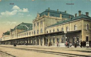 Arad, pályaudvar, vasútállomás / railway station (EK)