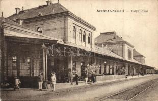 Szatmárnémeti, Satu Mare; Vasútállomás / railway station (EK)