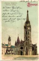 Budapest I. Mátyás templom, litho (fa)