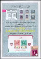 2001 MABÉOSZ okmány- és illetékbélyeg gyűjtők szakosztálya 10 éves jubileumi közgyűlése emléklap