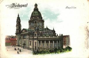 Budapest V. Bazilika, litho (kis szakadás / small tear)
