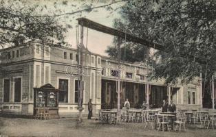 Buziásfürdő, Buzias; Gyógyterem, kiadja Heksch Manó / spa (kopott sarkak / worn corners)