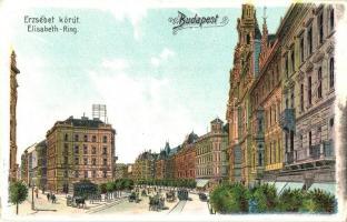 Budapest VII. Erzsébet körút, Erzsébetvárosi bútortelep, litho