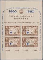 1940 100 éves a bélyeg vágott blokk Mi 2