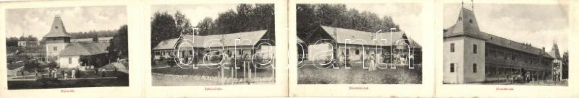 Máriavölgy, Valea Maria; 4 lapos leporelló: Mária-lak, Bercsényi-lak, Kossuth-lak, Rákóczi-ház / leporellocard, villas (non PC)