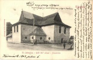 Késmárk, Kezmarok; Evangélikus fatemplom, kiadja Kuszmann Gyula / wooden church