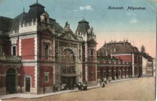 Kolozsvár, Cluj; Pályaudvar, vasútállomás, K. J. Bp. kiadása / railway station (EK)