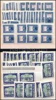 1958-1961 50 db Tanácsköztársaság + 29 db Liszt Ferenc sor + 20 db Várak 4Ft vízjel nélkül, 3 berakólapon (40.150)