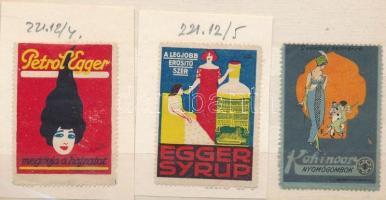 3 db klf fodrászattal kapcsolatos levélzáró bélyeg