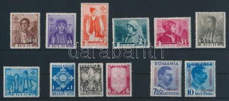 1936 3 klf sor Mi 509-518, 522-523 (Mi EUR 80,0-)