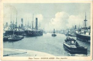 Buenos Aires, Dique Tercero / port, ships