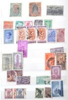 Néhány száz indiai klasszikus és régi bélyeg 8 lapos közepes berakóban + 2 db borítékban