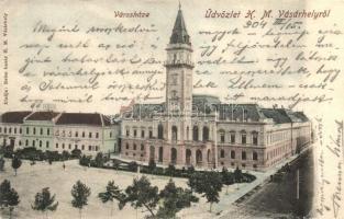 Marosvásárhely, Targu Mures; Városháza, Reisz bazár kiadása / town hall