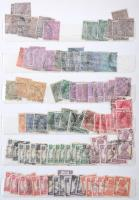 Néhány száz indiai bélyeg klasszikustól az 1970-es évekig többletpéldányokkal + kevés bangladesi bélyeg10 lapos közepes berakóban