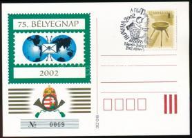 2002 75. Bélyegnap magánkiadású levelezőlap