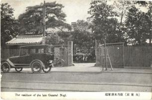 Tokyo, Residence of the late General Nogi, automobile