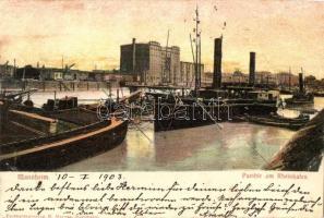 Mannheim, Parthie am Rheinhafen/ port, ships