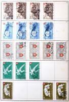 Svájc Pro Patria többpéldányos készlet 1938-1984 könyvvé fűzött cserefüzetben