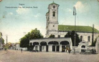 Lugos, Lugoj; Görög keleti templom, bazár, könykötészet / Orthodox church, bazaar, bindery (kopott sarkak / worn corners)