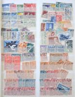 Franciaország több példányos előrendező, rengeteg régi és modern bélyeg, 21 lapos nagy Abria rugós berakóban, füzetlapokon és borítékban.