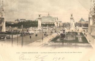 1900 Paris, Exposition Universelle, Pont Alexandre, Deux palais des Beaux-Arts (EK)