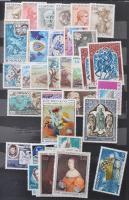 Monaco gyűjtemény 1948-1976 + kevés bélyeg más európai országokból 5 lapos közepes berakóban