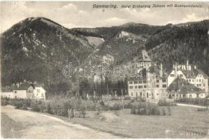 Semmering, Grand Hotel Erzherzog Johann mit Sonnwendstein (EK)