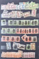 1916-1921 közötti főleg forgalmi bélyegek 10 lapos A/4 berakó néhány lapján és egy borítékban
