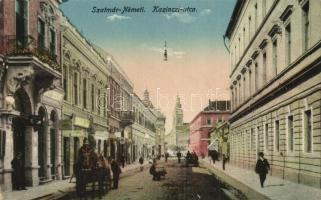 Szatmárnémeti, Satu Mare; Kazinczy utca / street (kopott sarok / worn corner)