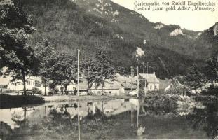Mürzsteg, Gartenpartie von Rudolf Engelbrechts gasthof zum gold. Adler