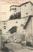 Árvaváralja, vár feljárata, Földes-féle Margit-Creme reklám / castle, cream advertisement (fl)